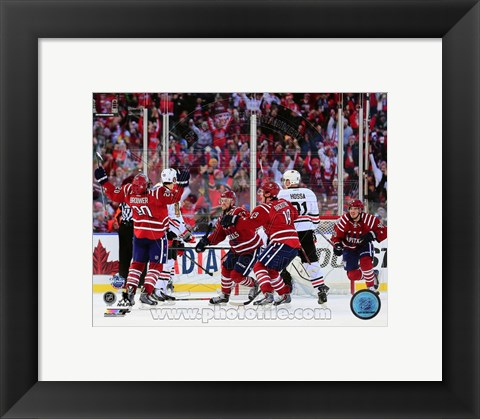 Framed Troy Brouwer Game Winning Goal 2015 NHL Winter Classic Print