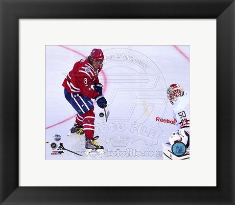 Framed Alex Ovechkin 2015 NHL Winter Classic Action Print