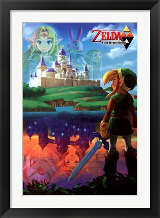 Framed Legend of Zelda - Two Worlds Print