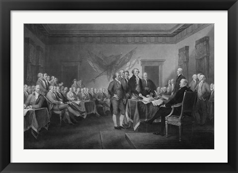 Framed Leaders of Congress Print