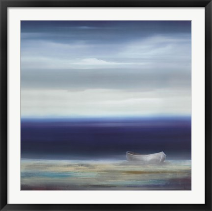 Framed Boat on Shore Print