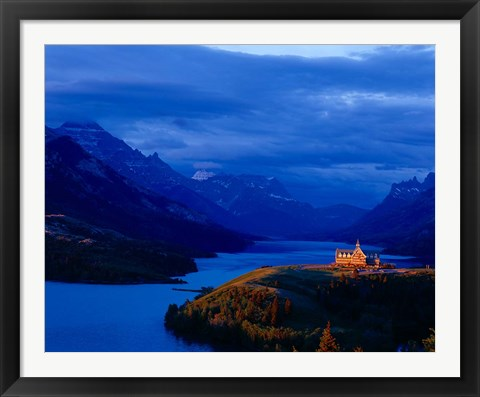 Framed Prince of Wales Hotel, Wateron Lakes National Park, Alberta, Canada Print
