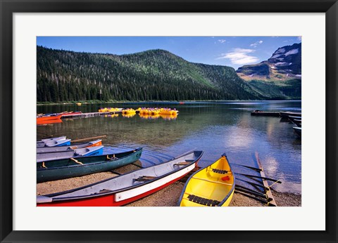 Framed Cameron Creek, Wateron Lakes National Park, Alberta, Canada Print