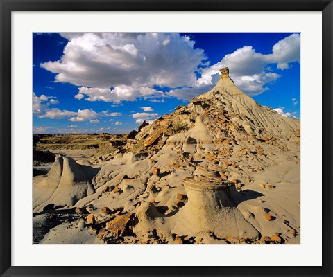 Framed Badlands at Dinosaur Provincial Park in Alberta, Canada Print
