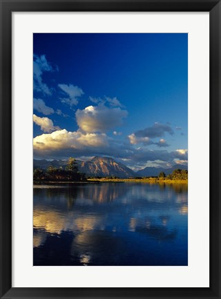 Framed Sofa Mountain in Maskinonge Lake, Alberta, Canada Print