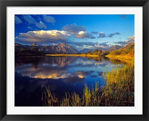 Framed Maskinonge Lake, Waterton Lakes National Park, Alberta Print