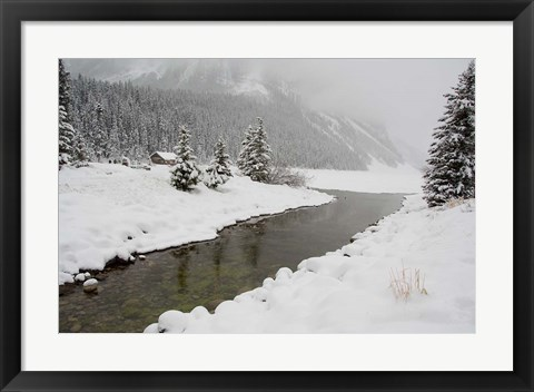 Framed Winter Views Around Lake Louise, Alberta, Canada Print