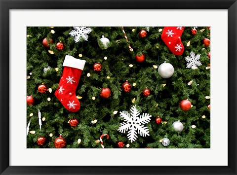 Framed Christmas Decorations Print