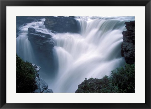Framed Athabasca Falls in Jasper National Park, Canada Print