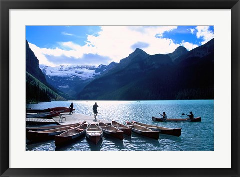 Framed Emerald Lake, Alberta, Canada Print