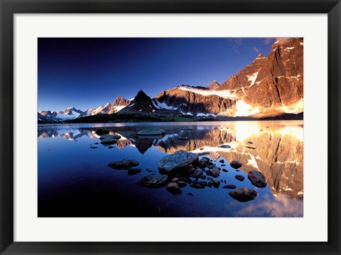 Framed Ramparts, Tanquin Valley, Jasper National Park, Alberta, Canada Print