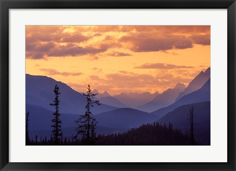 Framed Sunset in Banff National Park, Alberta, Canada Print