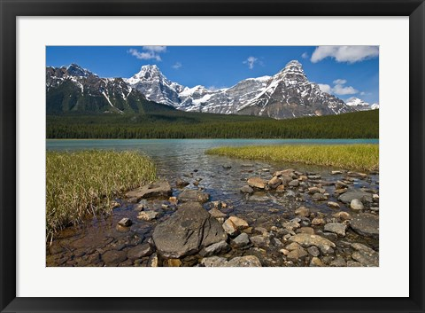 Framed Alberta, Rocky Mountains, Banff NP, lake fed by snowmelt Print