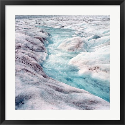 Framed Athabasca Glacier, Columbia Icefields, Alberta Print