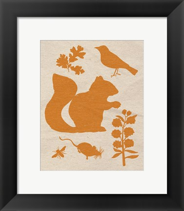 Framed Woodland Creatures II Print