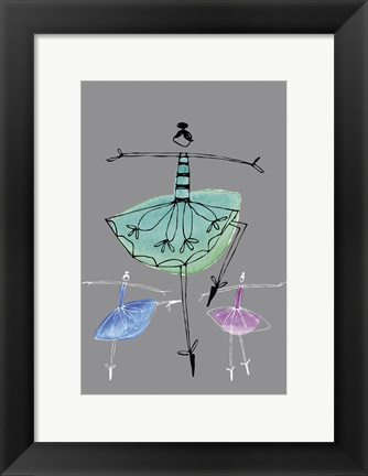 Framed Pretty Ballerinas I Print
