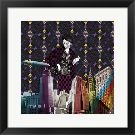 Framed Vintage City II Print