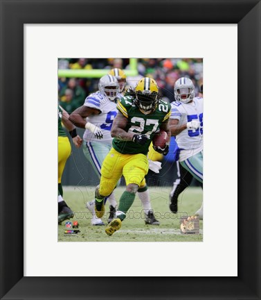 Framed Eddie Lacy 2014 Playoff Action Print