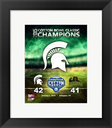 Framed Michigan State Spartans Cotton Bowl Champions Print