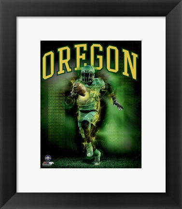 Framed University of Oregon Ducks Player Composite Print