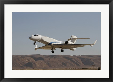 Framed Gulfstream Nachshon-Eitam of the Israeli Air Force taking off Print