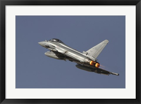 Framed Eurofighter Typhoon of the italian air force Print