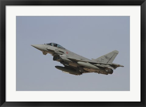 Framed Eurofighter Typhoon of the Italian Air Force taking off Print