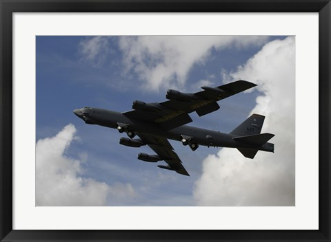 Framed B-52 Stratofortress heavy bomber of the US Air Force Print