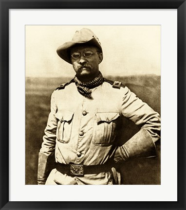 Framed Colonel Theodore Roosevelt Print