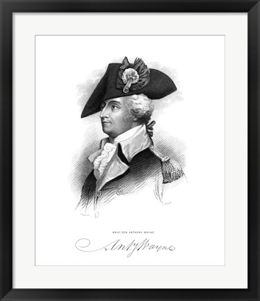 Framed General Anthony Wayne (Revolutionary War) Print