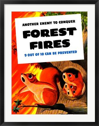 Framed Another Enemy - Forest Fires Print