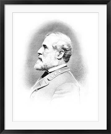 Framed General Robert E Lee (Vintage Civil War) Print