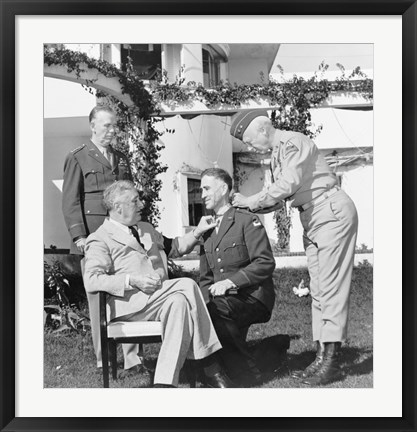 Framed President Franklin Roosevelt Presenting the Medal of Honor Print