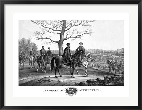 Framed Generals Robert E Lee and Ulysses S Grant Print