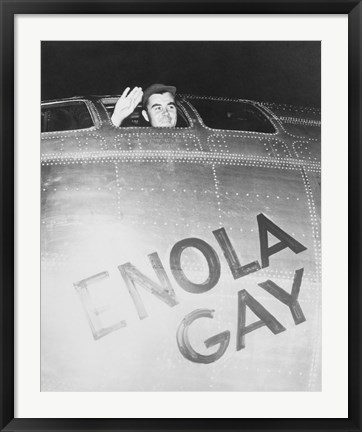 Framed Colonel Paul Tibbets on the Enola Gay Print
