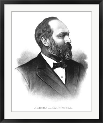 Framed James A. Garfield Print