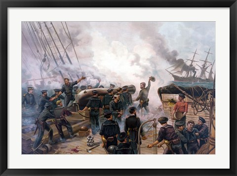 Framed Battle of Cherbourg Print