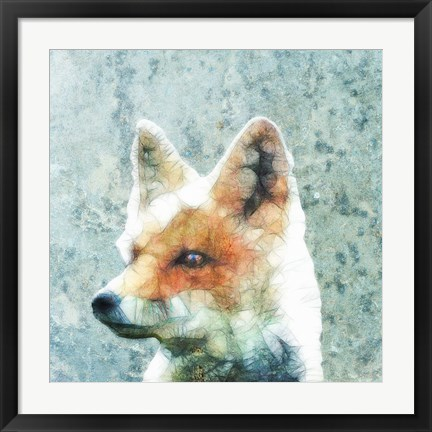 Framed Abstract Fox Print