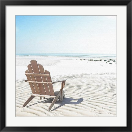 Framed Beach Chair Print