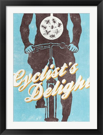 Framed Cyclists Delight Print