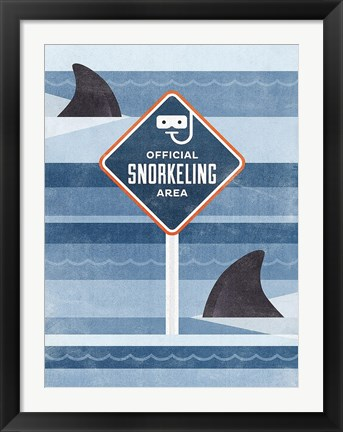 Framed Official Snorkeling Area Print