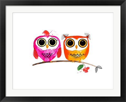 Framed Owl Love Print