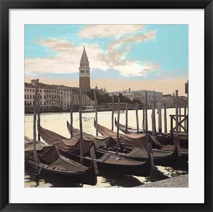 Framed Campanile Vista with Gondolas Print