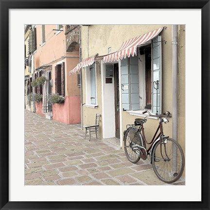 Framed Venetian Bicycle Print