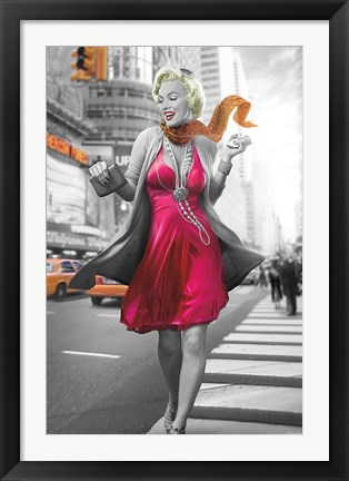 Framed Marilyn in the City Print