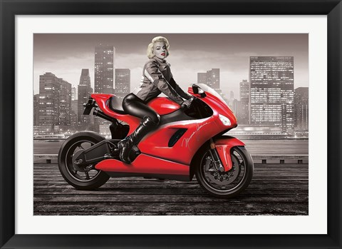 Framed Marilyn's Motorcycle Print