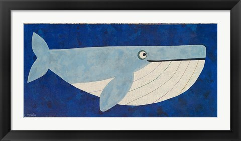 Framed Wendell the Whale Print