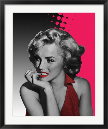 Framed Marilyn Pink Print