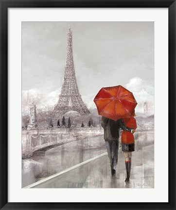 Framed Couple in Paris Print