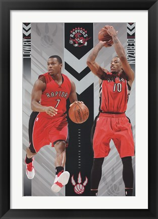Framed Toronto Raptors - Duo 15 Print